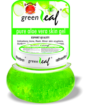 Гель для лица и тела натуральный Алоэ Вера 500г / GREEN LEAF Pure Aloe Vera skin gel 500g