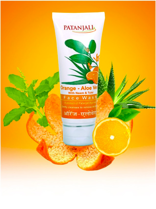 Гель для умывания Апельсин и Алоэ Вера Патанджали 60г / PATANJALI Orange Aloe Vera Face Wash 60g