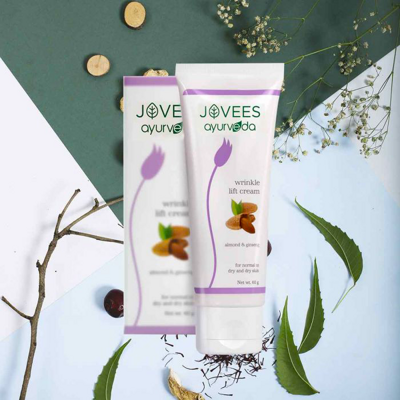 Крем против морщин с экстрактом Миндаля Джовис 60г / Jovees Almond & Ginseng Wrinkle Lift Cream 60g