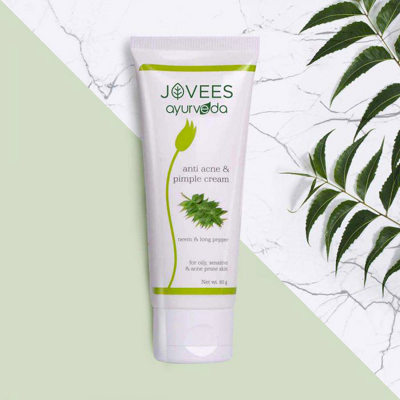 Крем анти-акне Джовис 60г / JOVEES Neem & Long Pepper Anti Acne Pimple Cream 60g