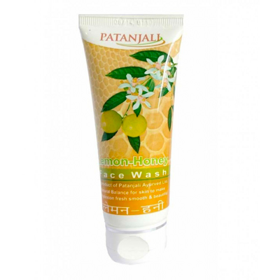 Гель для умывания Лимон и Мёд Патанджали 60г / PATANJALI Lemon Honey Face Wash 60g